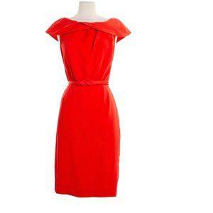 Escada Orange Silk Midi Dress Size 36 (M)